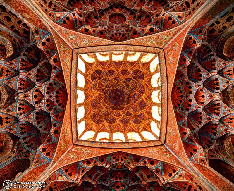 Ali Qapu Ceiling Isfahan iran سقف عمارت عالی قاپو اصفهان