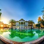 Eram Garden Shiraz Sunset Panorama غروب باغ ارم شیراز  150x150 - عکس های پانوراما ایران / Iran 360 panorama Little Planet