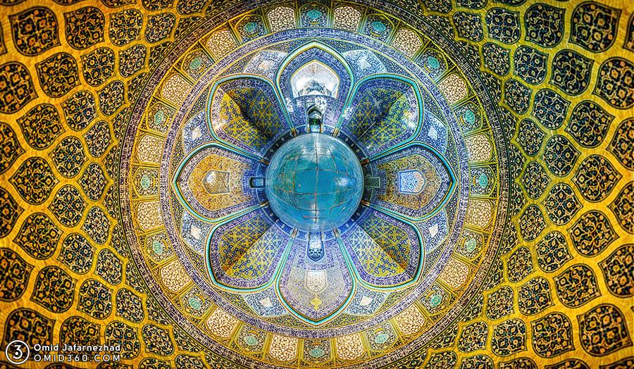 Flower of Sheikh Lotfollah Mosque Isfahan گل معماری اصفهان مسجد شیخ لطف اله اصفهان