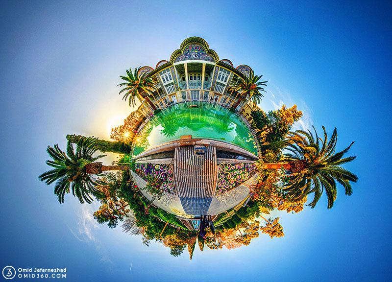 Little planet omid360.com باغ ارم شیراز