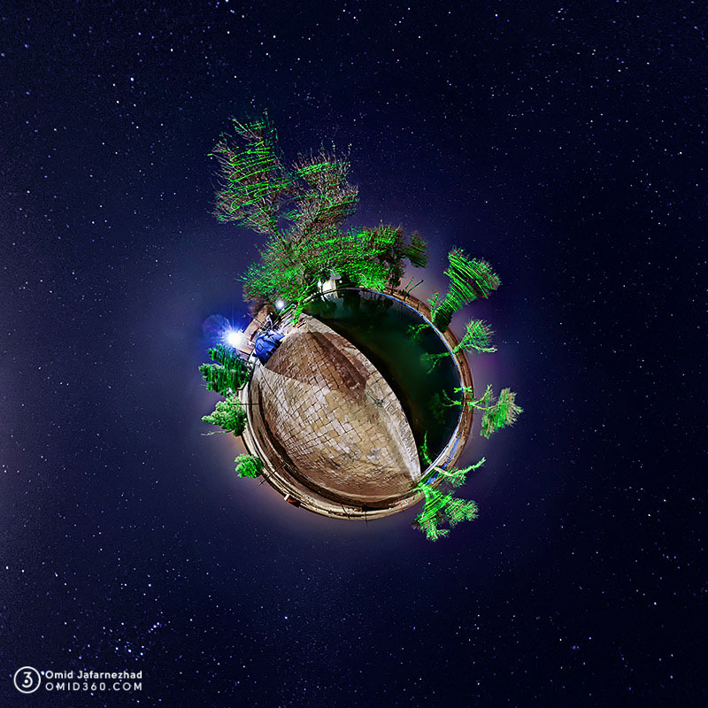 Little planet omid360.com کویر مرنجاب کاشان