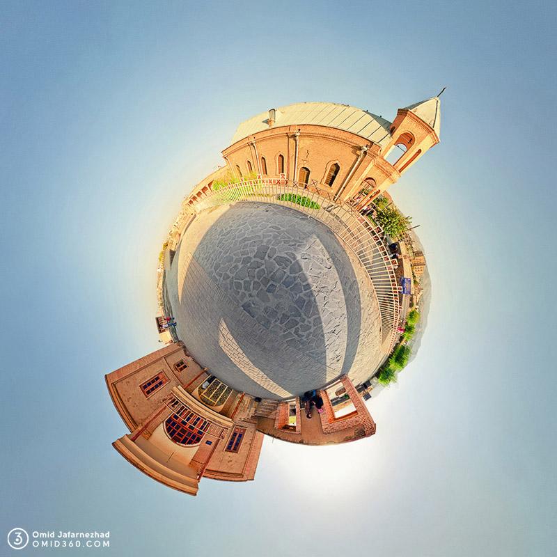 Little planet omid360.com 15 کلیسای گری گوری استفان همدان - تور مجازی همدان - Hamedan Virtual Tour