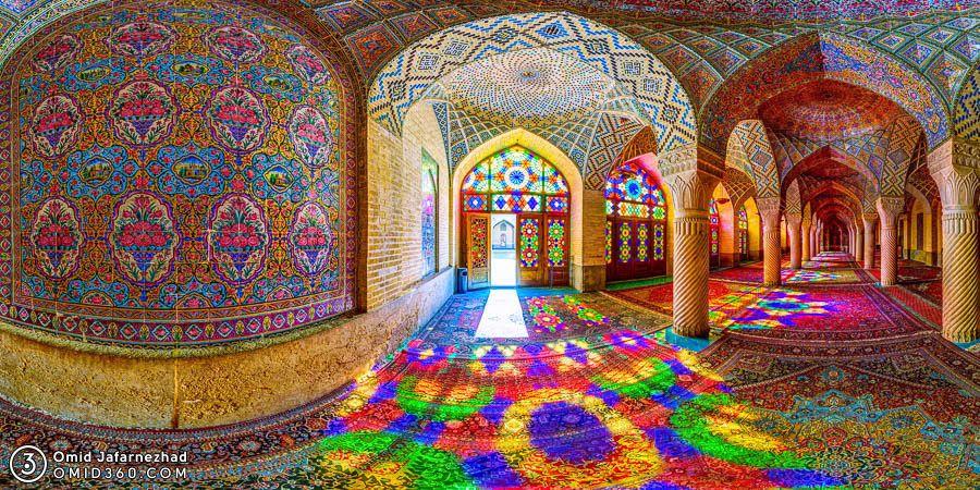 Nasir al-Mulk Mosque Shiraz رقص رنگ و نور مسجد نصیر الملک شیراز