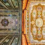Persian carpets on the Ceiling سقف فرش مانند آینه ای نارنجستان شیراز  150x150 - عکس های پانوراما ایران / Iran 360 panorama Little Planet