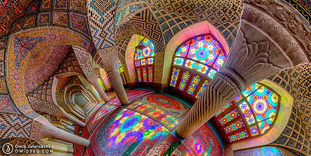 colorful windows Nasir Al Mulk Mosque
