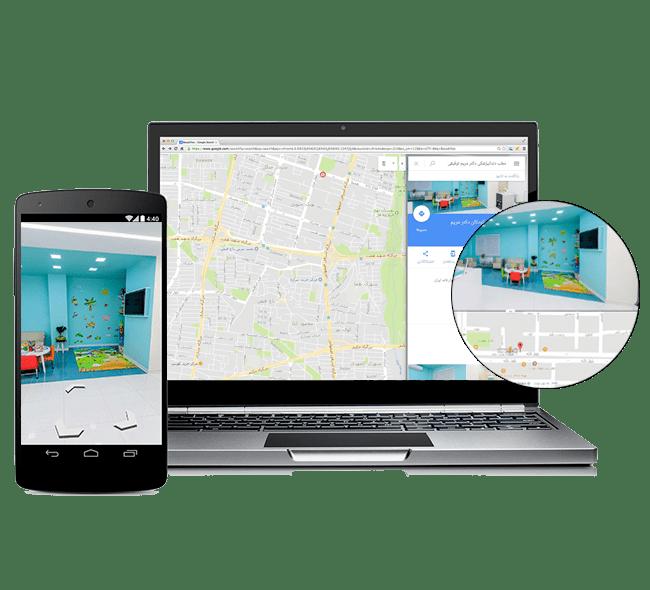 نمایش تور مجازی در گوگل مپ و سرچ گوگل