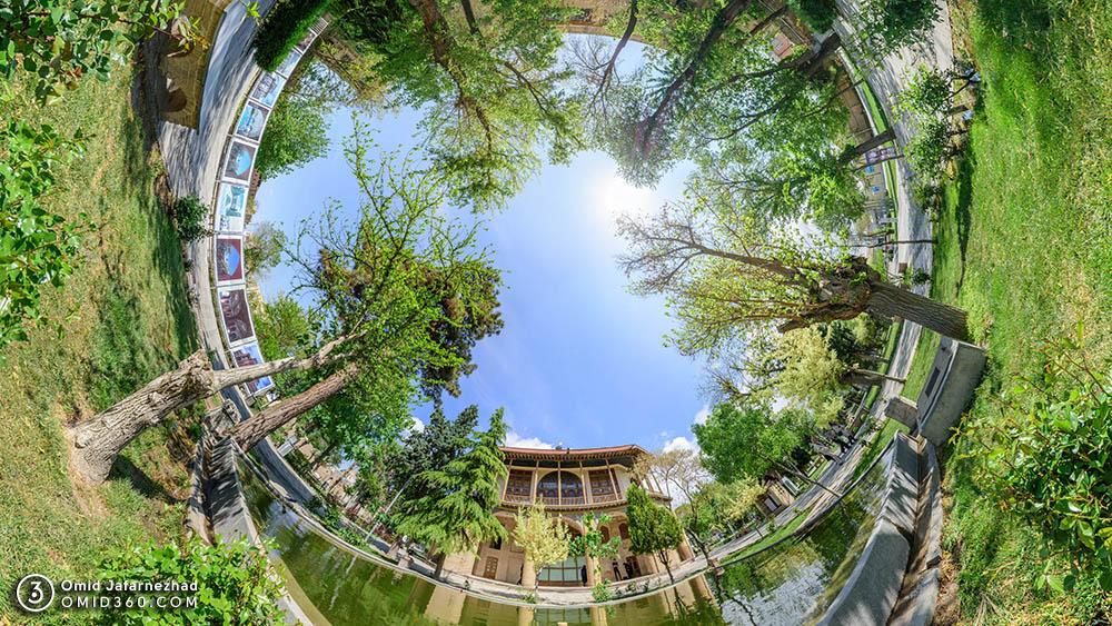 عمارت کلاه فرنگی چهل ستون قزوین 1 - تور مجازی قزوین / Qazvin Virtual Tour