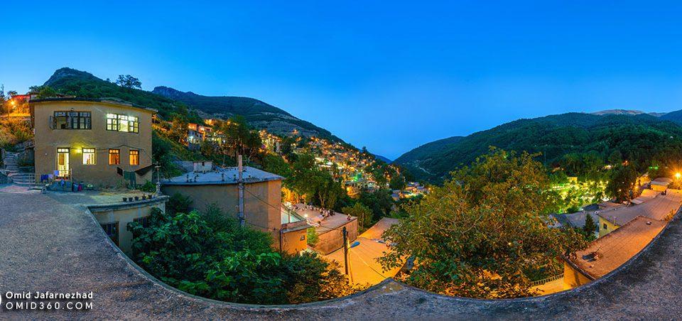 عکس شب شهر ماسوله