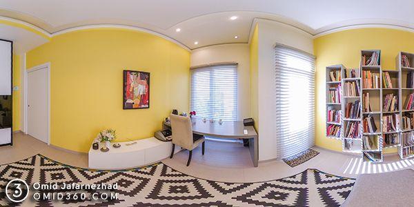 تور مجازی آپارتمان طراحی داخلی - عکس گسترده پانورما از خانه آپارتمانی با طراحی معماری داخلی اختصاصی