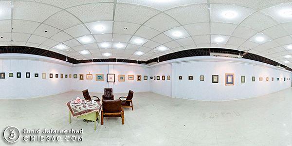 تور مجازی نمایشگاه خوشنویسی در تالار آیینه فرهنگسرای اراک مشاهده در استریت ویو گوگل مپ