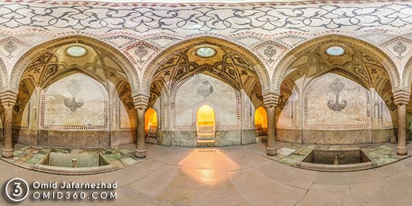 تور مجازی حمام ارگ کریم خان شیرلز - تور مجازی شیراز / Shiraz Virtual Tour