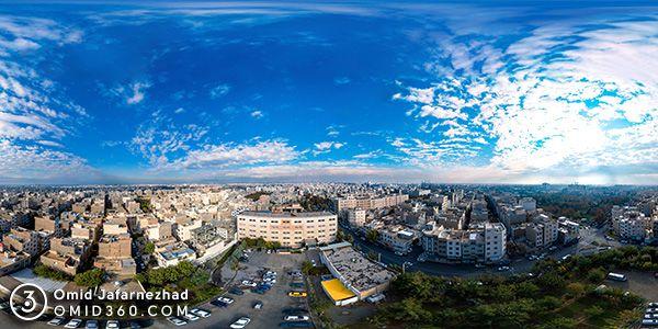 عکس 360 هوایی تهران تور مجازی