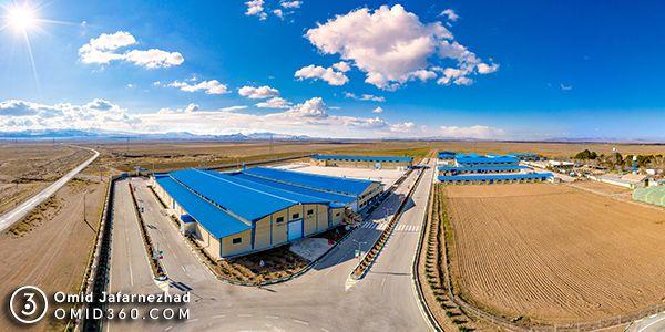 تور مجازی صنایع غذایی برفود - عکاسی هوایی 360 درجه - تور مجازی هوایی