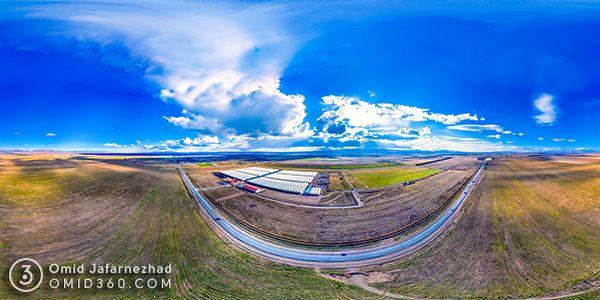 عکس هوایی 360 درجه استان مرکزی مامونیه