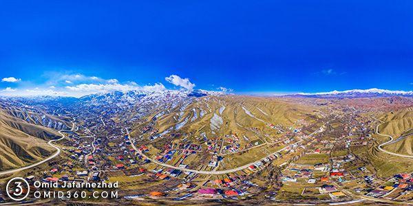 کیلان دماوند عکس هوایی 360 درجه