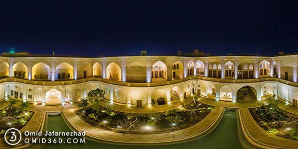 تور مجازی خانه تاریخی کاشان در شب - تور مجازی کاشان / Kashan Virtual Tour
