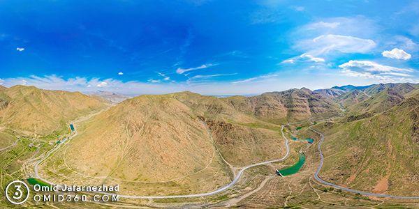 عکس هوایی دره گردو اراک - عکاسی هوایی 360 درجه - تور مجازی هوایی