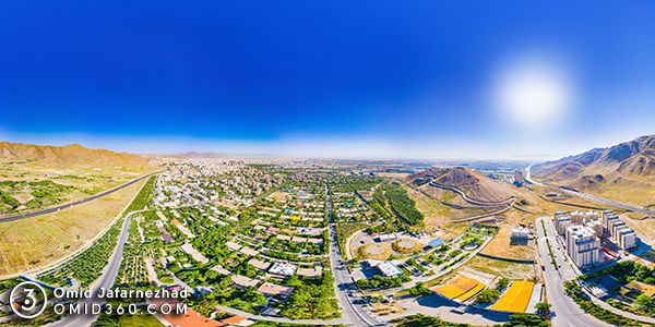 تور مجازی شهر صنعتی اراک عکس هوایی - عکاسی هوایی 360 درجه - تور مجازی هوایی