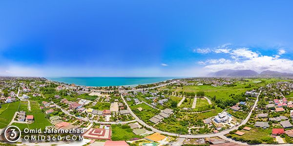 تور مجازی نوشهر - عکاسی هوایی 360 درجه - تور مجازی هوایی