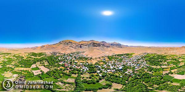 روستای انجدان عکس هوایی تور مجازی