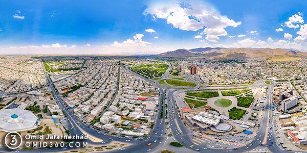 شهر اراک عکس هوایی پانوراما 360 - شهر اراک عکس پانورامای 360 درجه هوایی