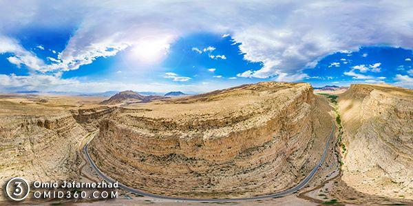 تور مجازی دره و جاده ازنا جاسب - عکاسی هوایی 360 درجه - تور مجازی هوایی