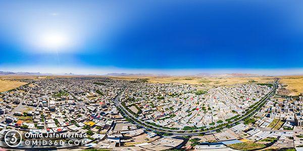 عکس هوایی دلیجان پانوراما 360 درجه