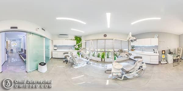 تور مجازی مطب دندانپزشکی دکتر کامیار عباسی