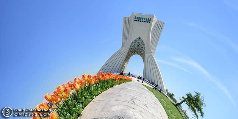 تور مجازی میدان و برج آزادی