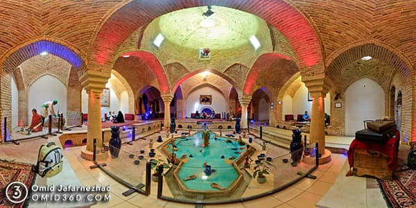 تور مجازی حمام قلعه همدان