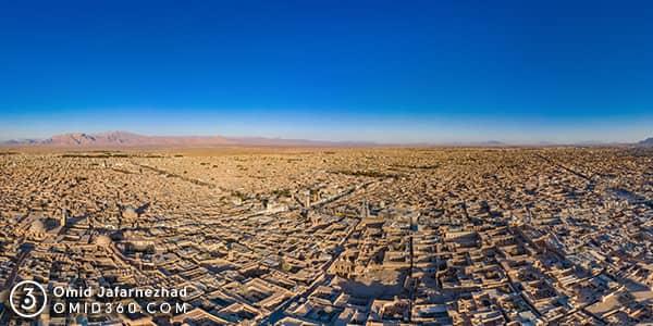عکس هوایی یزد تور مجازی